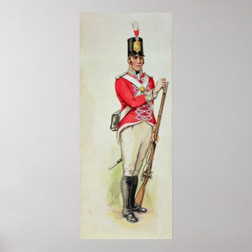 Soldado británico en épocas napoleónicas impresiones