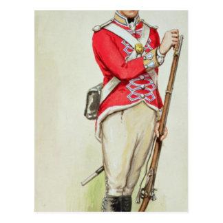 Soldado británico en épocas napoleónicas postal