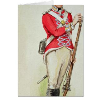 Soldado británico en épocas napoleónicas tarjeta