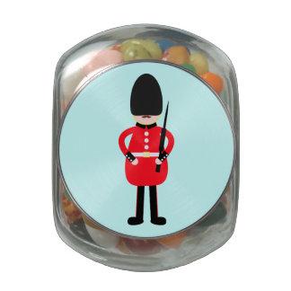 Soldado británico frascos de cristal