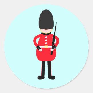 Soldado británico pegatina redonda