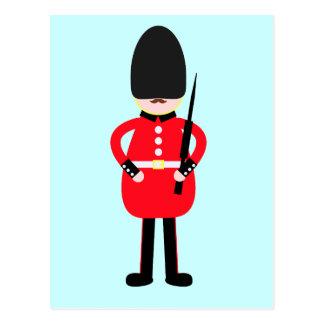 Soldado británico tarjeta postal
