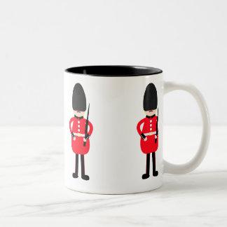 Soldado británico tazas de café