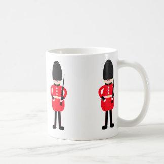 Soldado británico taza de café