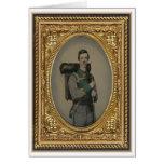 Soldado confederado desconocido, retrato del estud tarjeta