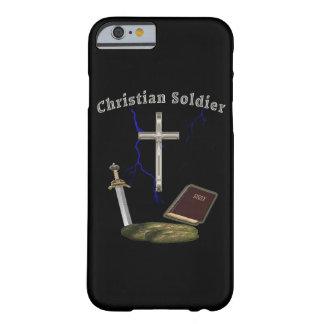 Soldado cristiano funda de iPhone 6 barely there