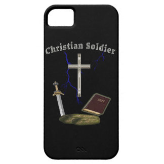 Soldado cristiano iPhone 5 funda