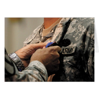 Soldado cristiano tarjeta de felicitación