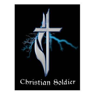 Soldado cristiano tarjeta postal