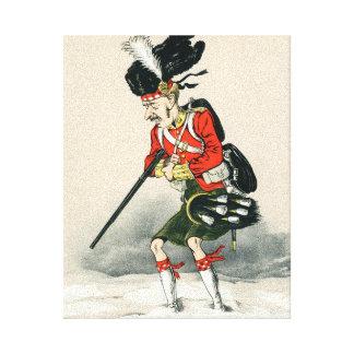 Soldado de Británicos del montañés de Gordon Lona Estirada Galerias