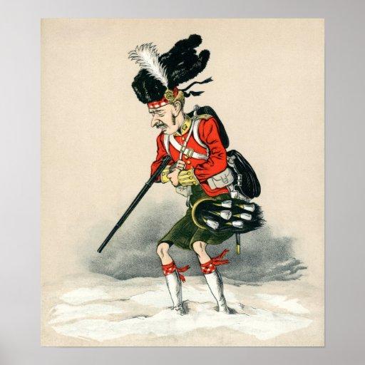 Soldado de Británicos del montañés de Gordon Póster