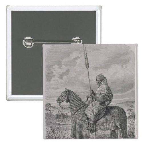 Soldado de caballería de Baghirmi en armadura acol Pin