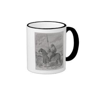 Soldado de caballería de Baghirmi en armadura acol Tazas De Café