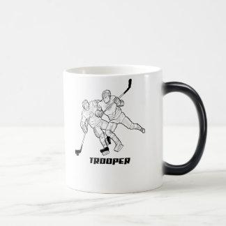 soldado de caballería del hockey taza mágica