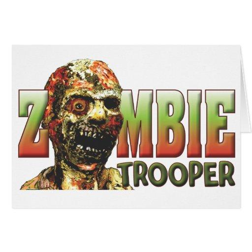 Soldado de caballería del zombi tarjeta de felicitación