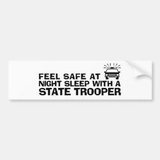 Soldado de caballería estatal divertido pegatina para auto