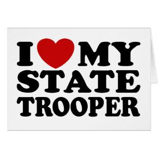 Soldado de caballería estatal tarjeta de felicitación