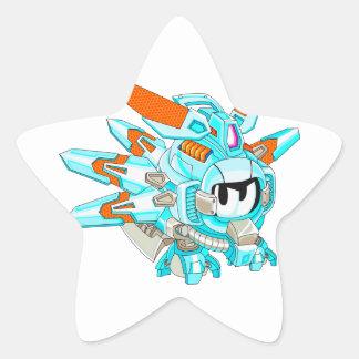 Soldado de caballería tosco Bygram Pegatina En Forma De Estrella
