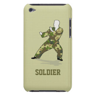Soldado de Camo en caja de color caqui verde negra iPod Touch Cobertura