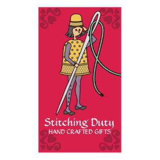 Soldado de costura del hilo de la aguja del dedal plantillas de tarjeta de negocio