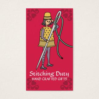 Soldado de costura del hilo de la aguja del dedal tarjeta de negocios