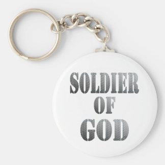 Soldado de dios 5 Métal Llavero