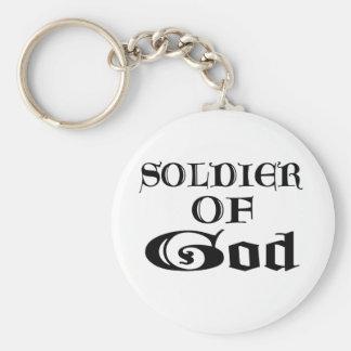 Soldado de dios Noir Llavero Personalizado