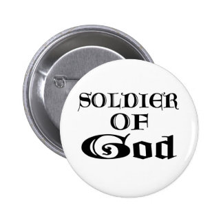 Soldado de dios Noir Pin Redondo 5 Cm