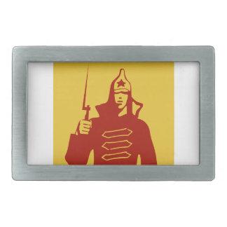 Soldado de ejército rojo hebillas de cinturon rectangulares
