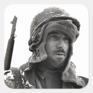 Soldado de infantería del americano de WWII Colcomanias Cuadradases