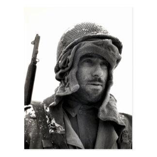 Soldado de infantería del americano de WWII Postal
