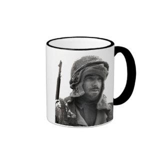 Soldado de infantería del americano de WWII Tazas De Café