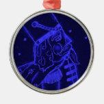 Soldado de juguete en azul real ornamentos de reyes