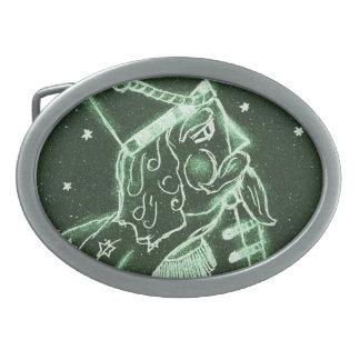 Soldado de juguete en Forest Green profundo Hebilla De Cinturón Oval