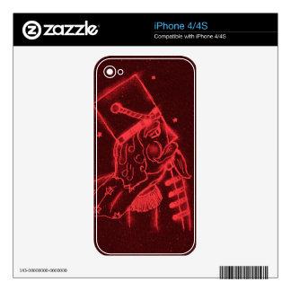 Soldado de juguete en rojo iPhone 4 calcomanías