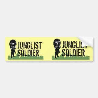 Soldado de Junglist Pegatina Para Auto