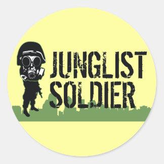 Soldado de Junglist Etiquetas Redondas