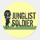 Soldado de Junglist Pegatina Redonda