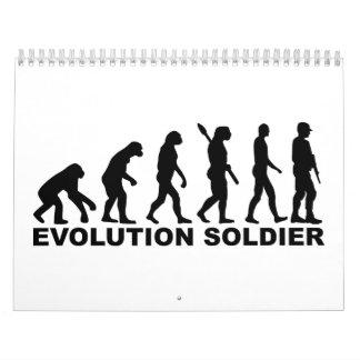 Soldado de la evolución calendarios