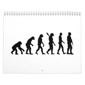 Soldado de la evolución calendarios de pared