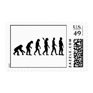 Soldado de la evolución timbre postal