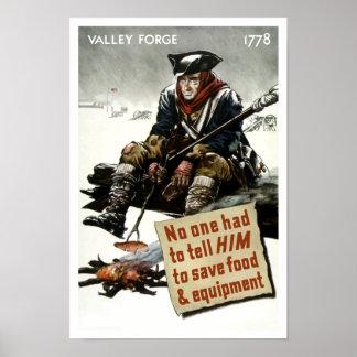 Soldado de la fragua del valle -- Propaganda WW2 Póster