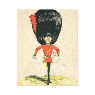 Soldado de la guardia del ejército británico lienzo envuelto para galerías
