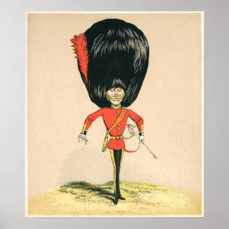 Soldado de la guardia del ejército británico póster