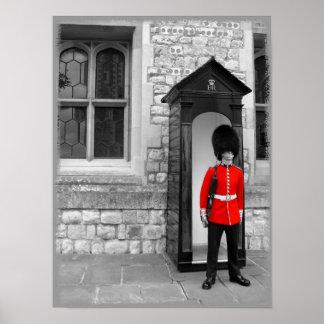 Soldado de Londres en el poster del desfile Póster