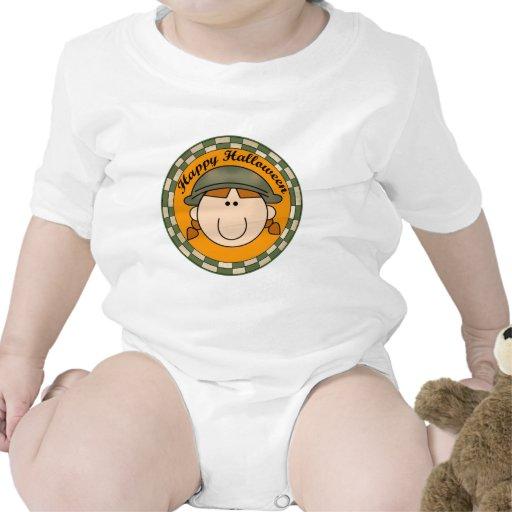 Soldado de los militares del chica trajes de bebé