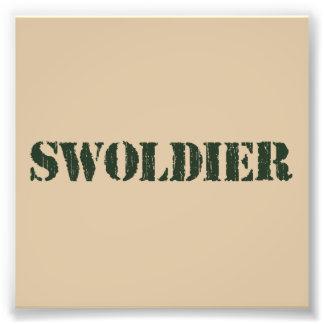 Soldado de Swoldier Swole los E.E.U.U. Fotografía