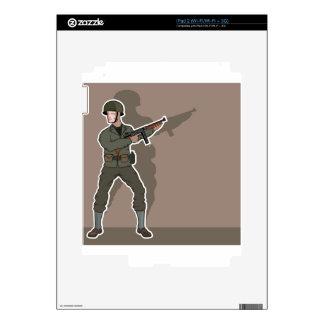 Soldado de WWII Skins Para iPad 2