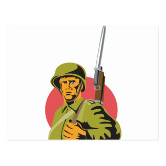 Soldado del americano de la Segunda Guerra Mundial Tarjeta Postal