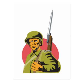 Soldado del americano de la Segunda Guerra Mundial Tarjetas Postales